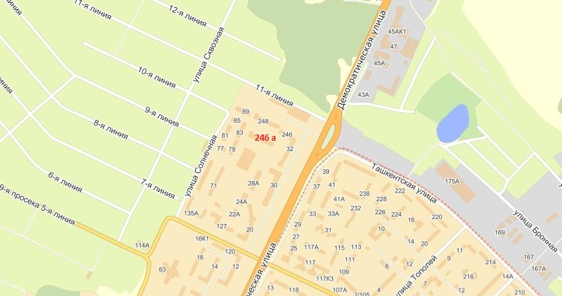Карта местоположения ДОУ