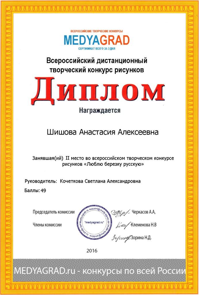 Шишова Анастасия Алексеевна